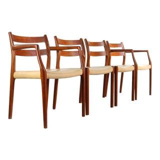 1960s Vintage Niels O. Moller for j.l. Møllers Model #84 Teak Dining Chairs- Set of 4 For Sale