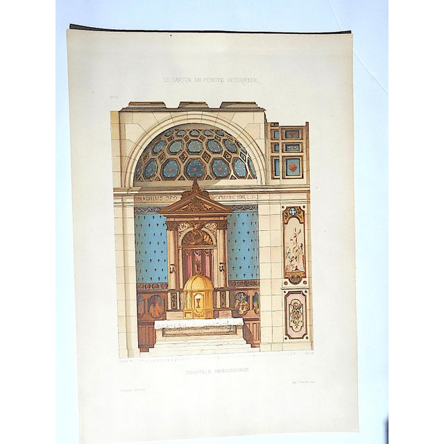 This is one of a series of antique chromolithographs (each color laid in separately with a lithographic stone) depicting...