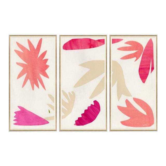 Spring Fling I, II & III Framed Art Prints - Set of 3 For Sale