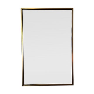 Contemporary Brass Framed Mirror