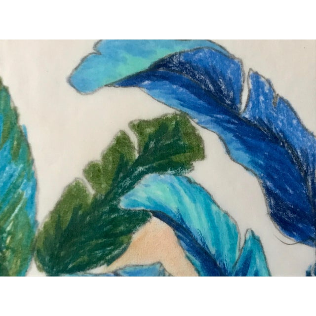 1960s Vintage Original Pastel Drawing of Feathers Tropical Birds For Sale - Image 5 of 6