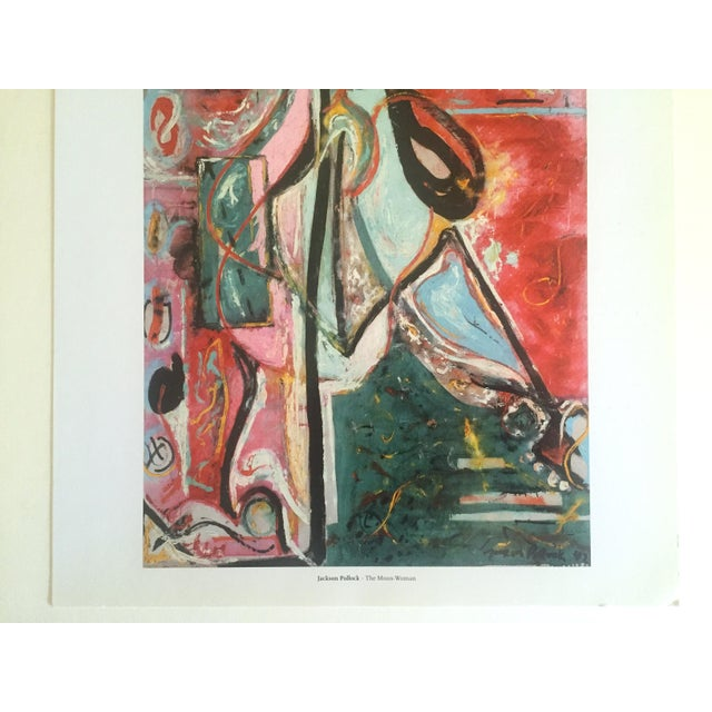 "Abstract Expressionism Jackson Pollock Foundation Abstract Expressionist Collector's Lithograph Print "" the Moon - Woman "" 1942 For Sale - Image 3 of 13"