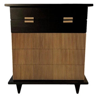 1950s American of Martinsville Faux Bamboo Highboy Dresser For Sale