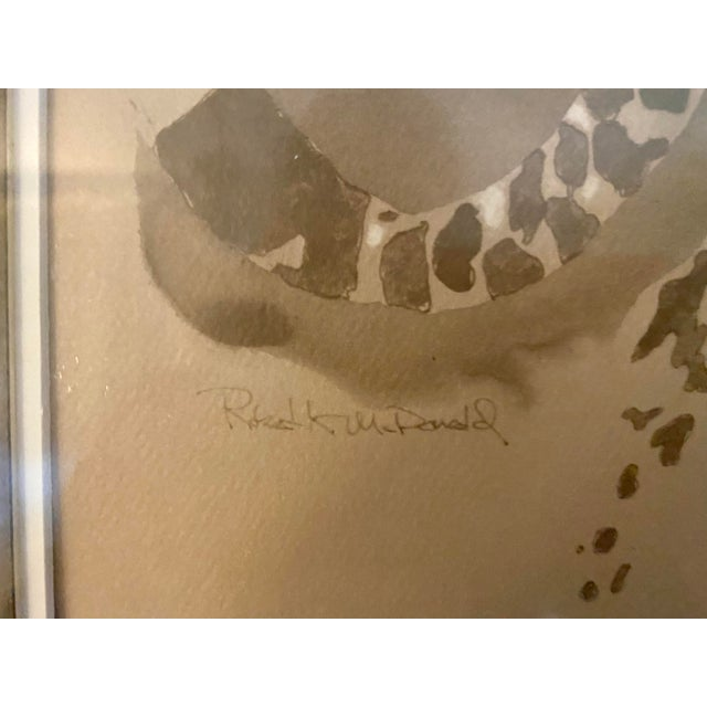 """Vintage Framed Limited Edition African """"Cheetah"""" by Robert K McDonald For Sale In Saint Louis - Image 6 of 8"""