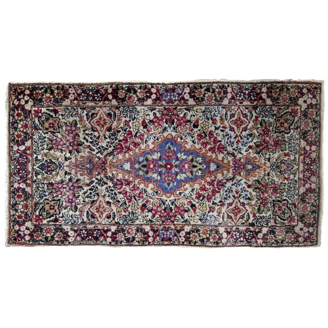 1910s, Handmade Antique Persian Kerman Rug 2.2' X 4.1' 1910s For Sale In New York - Image 6 of 7