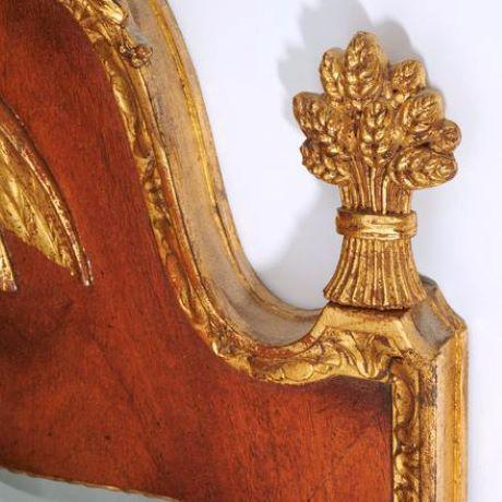 Mid 20th Century Federal Style Parcel Gilt Mahogany Mirror For Sale - Image 4 of 8