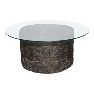 "Paul Evans for Directional ""Sculpted Metal Collection"" Bronze Resin Coffee Table For Sale"