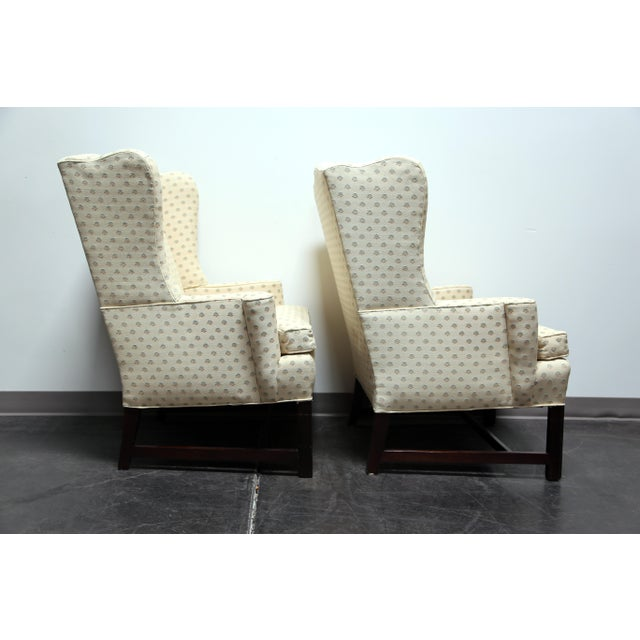Chippendale Style Mahogany Wing Back Chairs by Conover Chair Co - Pair For Sale - Image 4 of 11