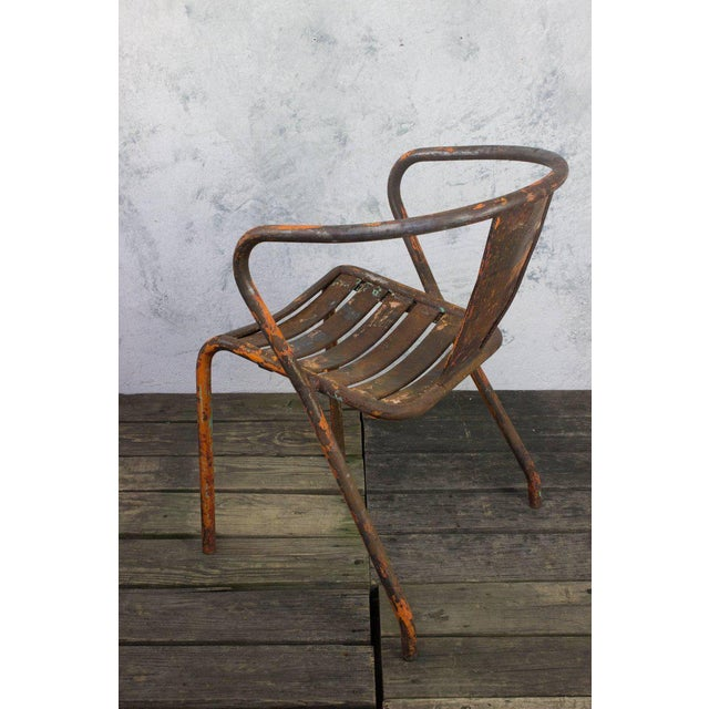 Pair of French Tolix Chairs With Original Paint Finish - Image 9 of 11