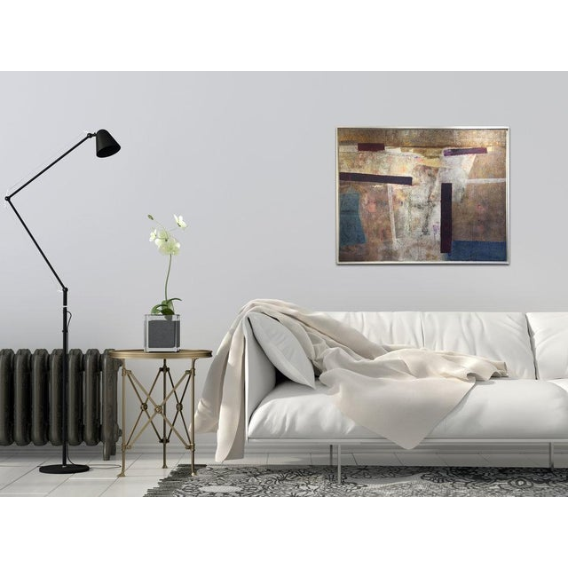Abstract oil painting on canvas. Signed by artist. Framed and ready to hang. Framed Dimensions: 38 x 50. ABOUT ARTIST:...