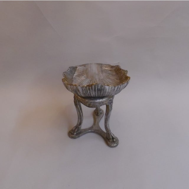 Edwardian 19th Century Italian Silver and Gold Gilt Cherrywood Grotto Seat For Sale - Image 3 of 13