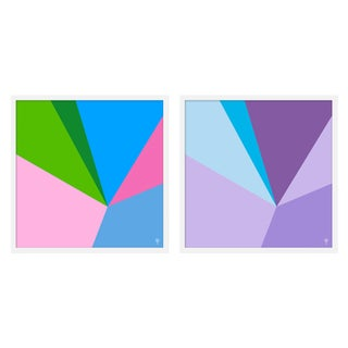 """Large """"Fractured Brights Ii, Set of 2"""" Print by Wendy Concannon, 50"""" X 25"""" For Sale"""
