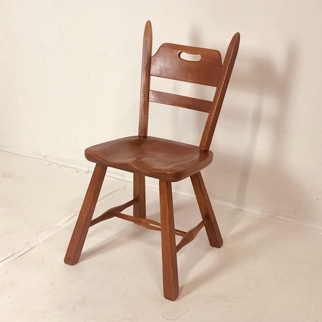 Set of 6 Cushman Vermont Rock Maple Dining Chairs Designed by Herman DeVries For Sale - Image 12 of 13