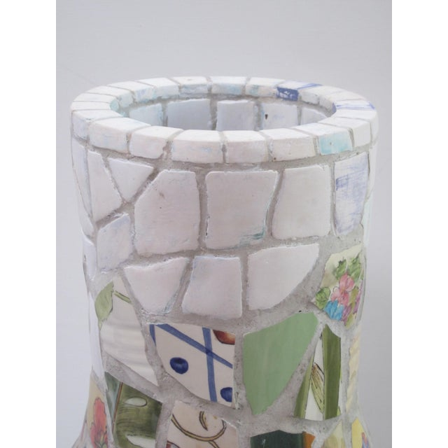 Large Handmade Mosaic Floor Vase Urn - Image 5 of 11