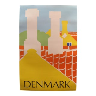 Original 1976 Vintage Danish Travel Poster, Denmark For Sale