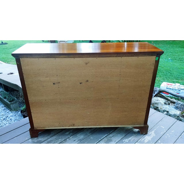 1966 Biedermeier Craftique Solid Mahogany Sideboard Buffet For Sale - Image 4 of 13