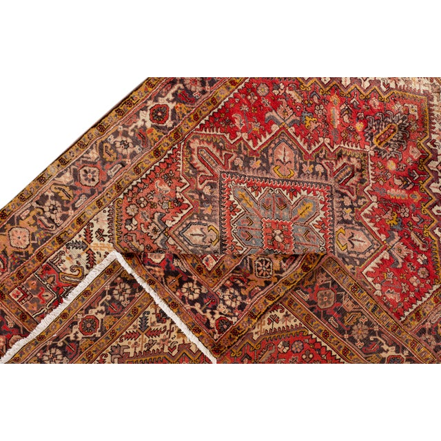 """Traditional Vintage Persian Rug, 6'5"""" X 8'9"""" For Sale - Image 3 of 9"""