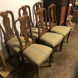 1990s Vintage Queen Anne Side Chair- Set of 6 Preview