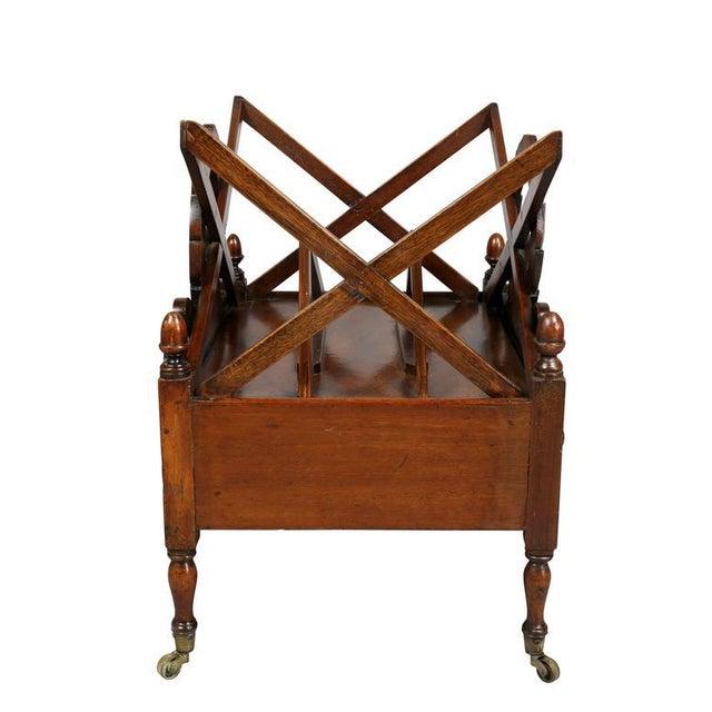 Wood William IV Mahogany Canterbury For Sale - Image 7 of 11