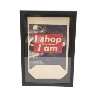 "Barbara Kruger Art Multiple Bag ""I Shop Therefore I ""Am"