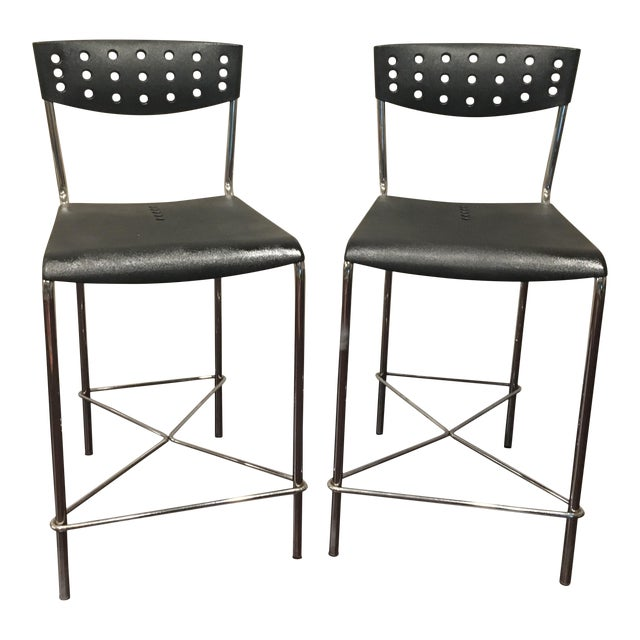 Umberto Bertoni for Beta Casa Bar Stools - A Pair - Image 1 of 4