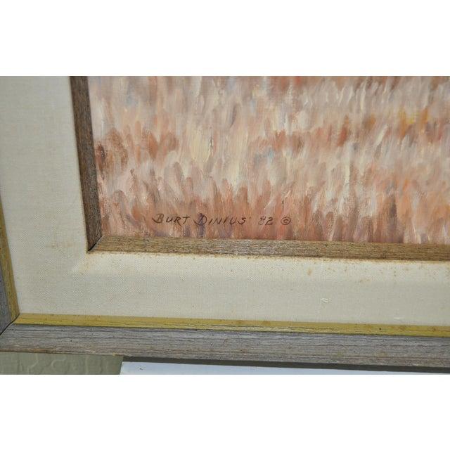 Rustic Burt Dinius Oil Painting - Fall Round Up C.1982 For Sale - Image 3 of 5