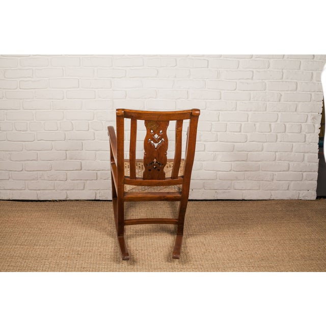 Teak Rocking Chair from 19th C. India - Image 4 of 6