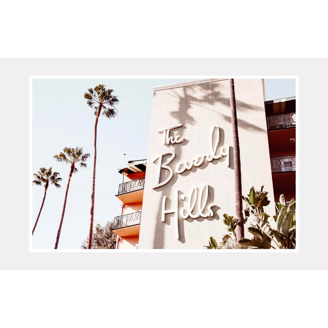 Vintage inspired original photograph of the famed Beverly Hills Hotel. Lightjet Type C Print 36x24 in Lightjet prints are...