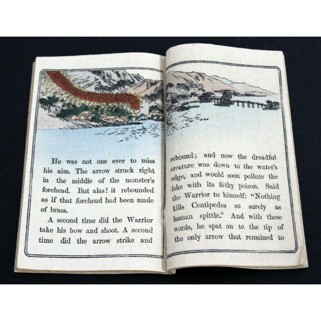 Mid 20th Century Antique Japanese Cloth Fairy Tale Book For Sale - Image 5 of 8