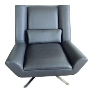 "American Leather ""Luke"" Contemporary Swivel Chair For Sale"