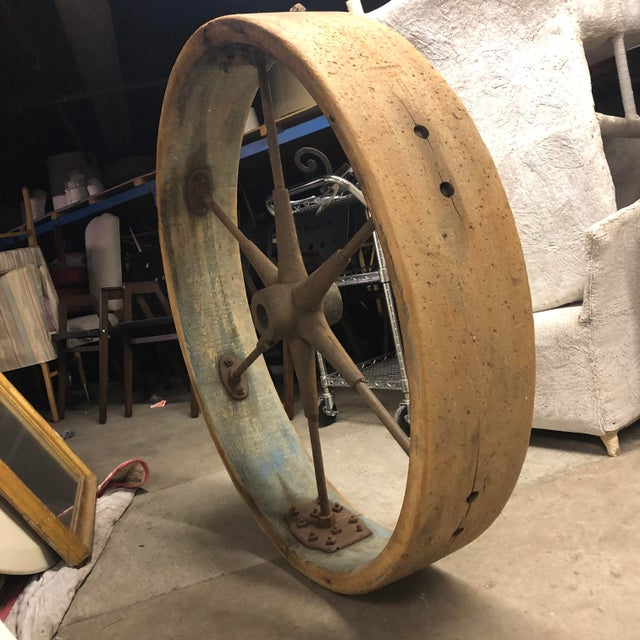 Early 20th Century Old Industrial Wheel For Sale In New York - Image 6 of 6