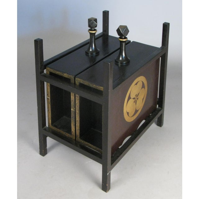 19th Century Antique Lacquered Japanese Sake Casks- A Pair For Sale - Image 9 of 11