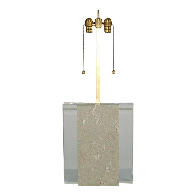 Fossil Stone Table Lamp For Sale