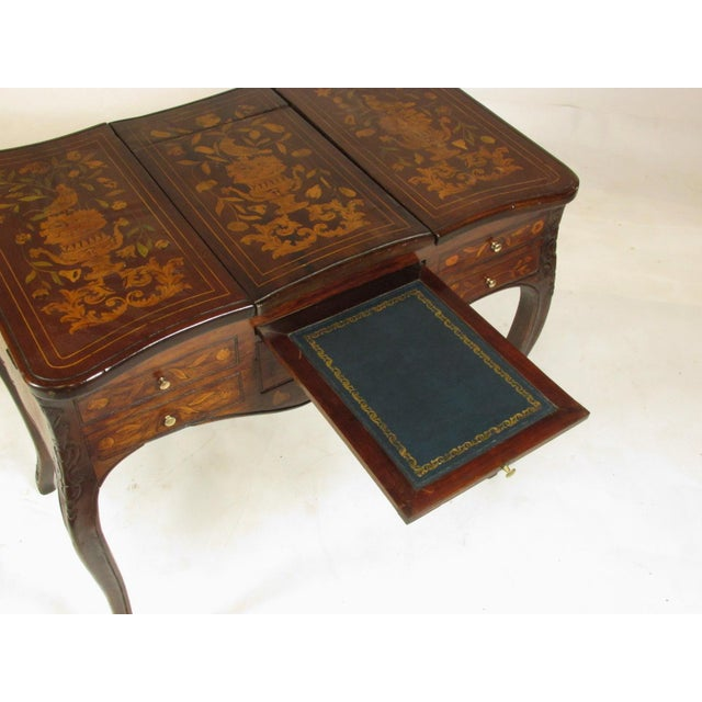 Wood 19th Century French Marquetry Podruse For Sale - Image 7 of 13