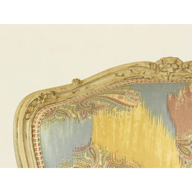 1950s Louis XV-Style Painted Bergere For Sale - Image 5 of 8