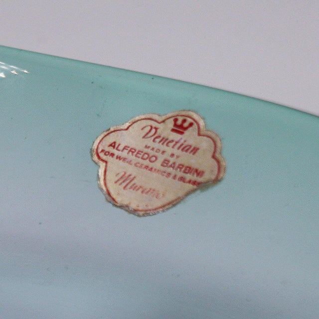 1930s Tinted Blue Murano Glass Bowl by Barbini, C. 1930 For Sale - Image 5 of 7