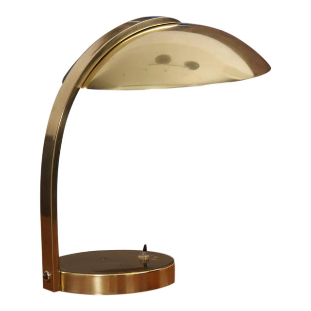 Italian 1960s Luxury Brass Table Lamp For Sale
