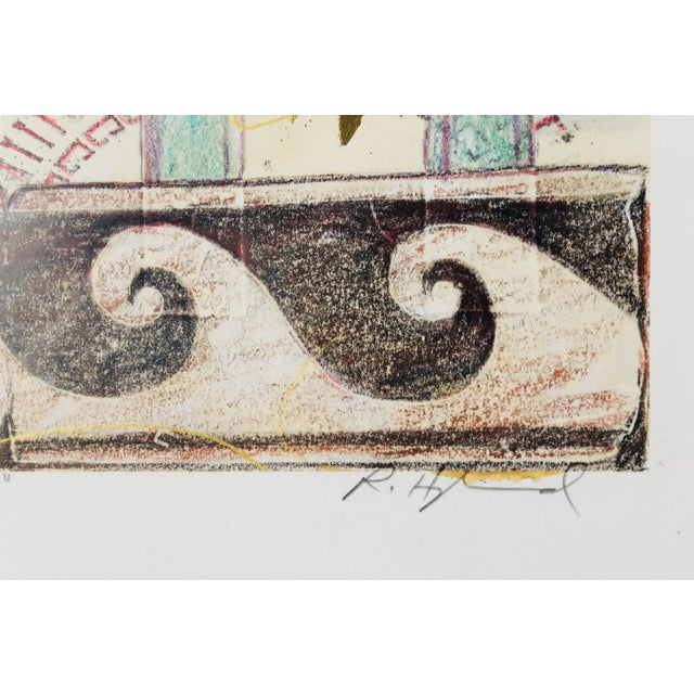 """20th Century """"Old World"""" Watercolor Painting For Sale - Image 4 of 6"""
