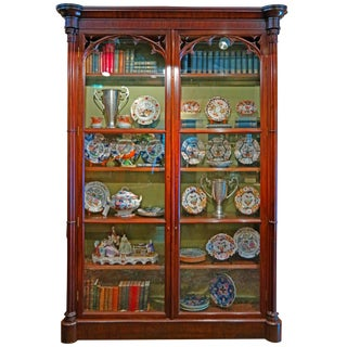 19th Century Mahogany Book Case For Sale