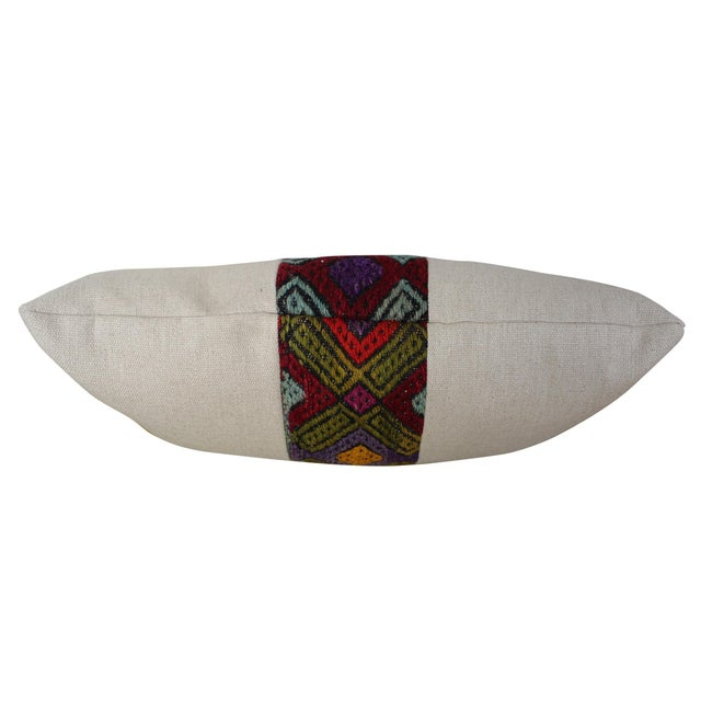Kilim Band Kidney Pillow For Sale - Image 4 of 5