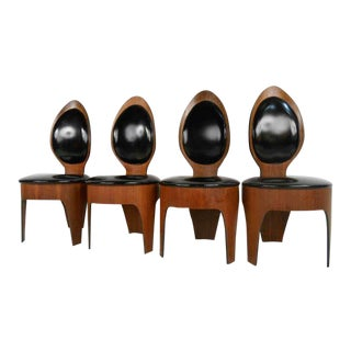 Mid-Century Modern Sculpted Spoon Chairs by Henry P. Glass For Sale