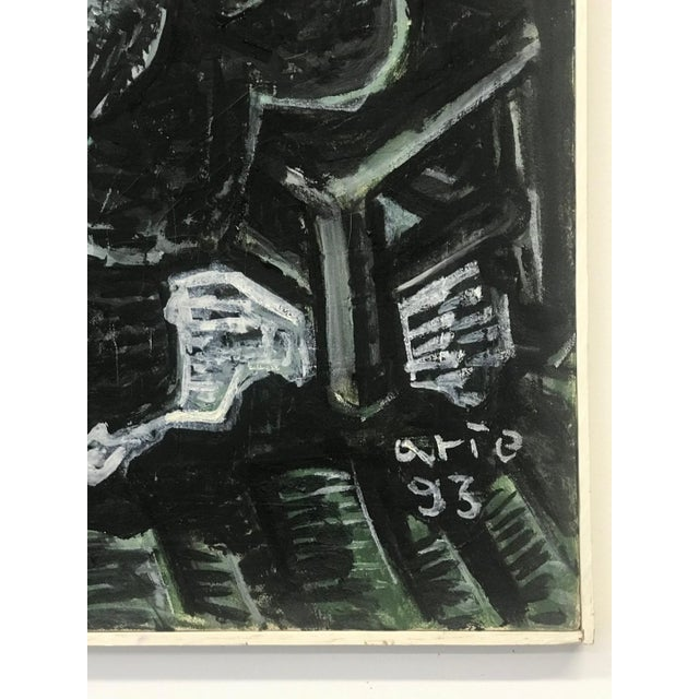 Contemporary 1990s Arie Eckstein Contemporary Oil Painting For Sale - Image 3 of 10