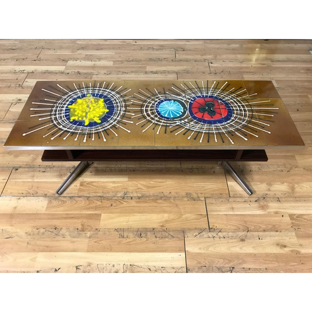 Mid Century Tile Top Coffee Table - Image 2 of 7