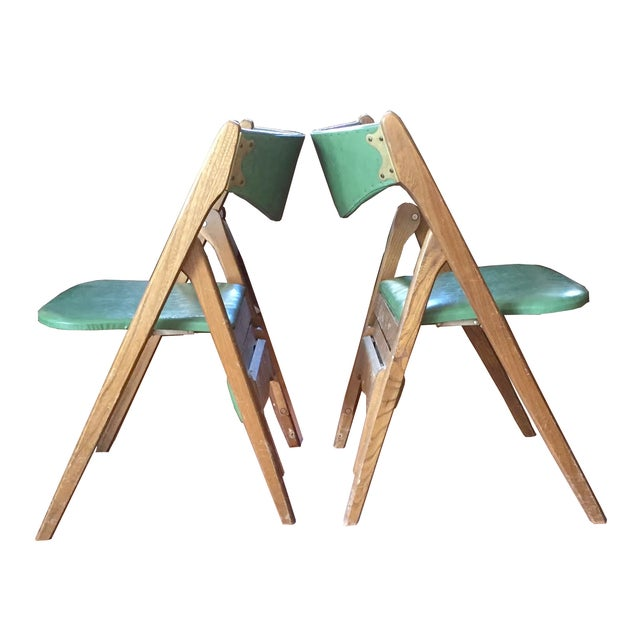 Norquist Coronet Vintage Folding Chairs - Set of 4 For Sale - Image 4 of 6