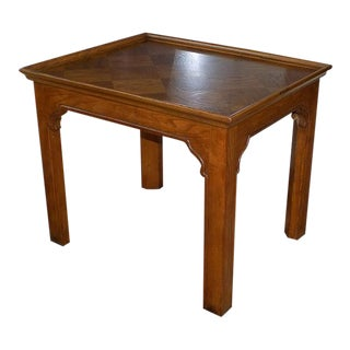 Four Centuries Oak French Country Henredon End Table For Sale