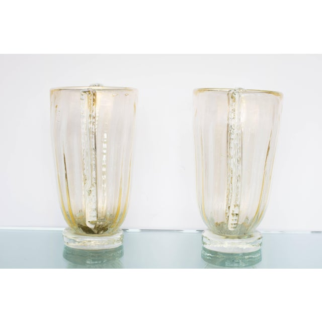 Italian Winged Murano Vases by Sergio Costantini, Pair For Sale - Image 3 of 10