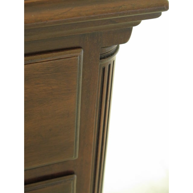 Rococo Kittinger Colonial Williamsburg Clawfoot Mahogany Lowboy For Sale - Image 3 of 11