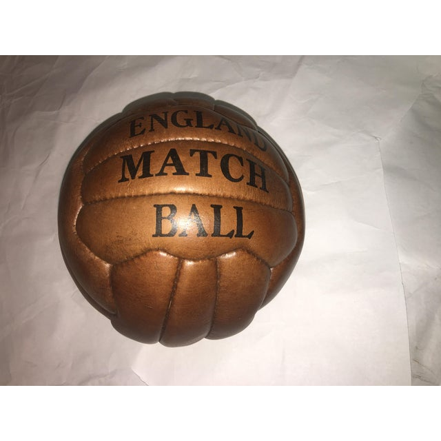 English Soccer Match Leather Ball - Image 5 of 9