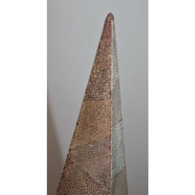 Modern Vintage Maitland-Smith Shagreen Obelisks - a Set of 2 For Sale - Image 3 of 11
