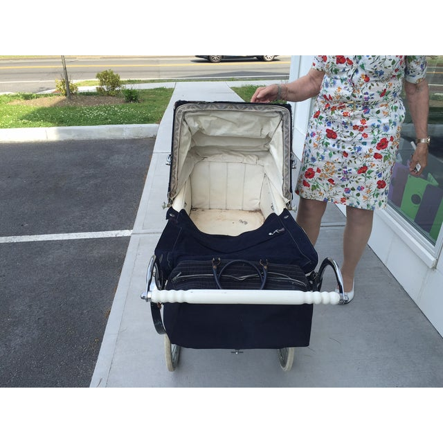 Antique Silver Cross Baby Coach - Image 4 of 5